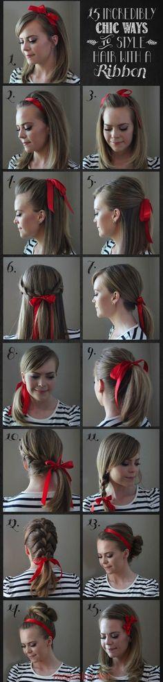 Chic τρόποι για να στολίσετε τα μαλλιά σας με μια κορδέλα (2)