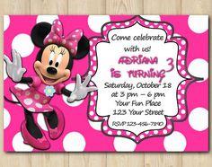 Minnie Mouse Invitation birthday custom by EventsPrintables