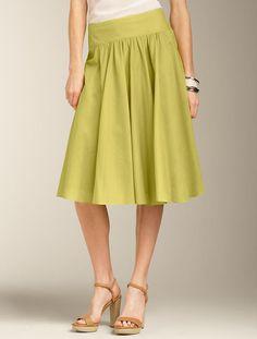 talbots.com - cotton voile full skirt