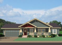 Covered wrap around porch on ranch the ashton i floor for Craftsman style modular home plans