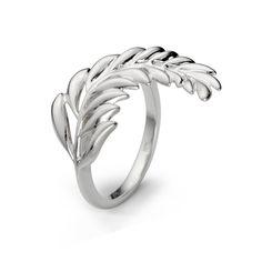 Lencia Tina Maze - Silver Fern Ring silver 925/000  rhodium plated