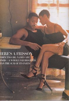 Will Smith and Jada Pinkett - Photographed by Annie Leibovitz for Vanity Fair Dec 1997 ~nj