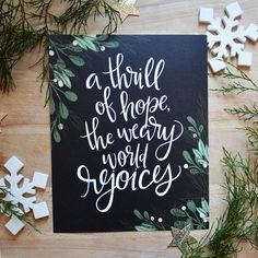 A thrill of hope, the weary world rejoices, Art Print Happy Holidays Christmas Decor, mistletoe, min Christmas Signs, Christmas Art, Beautiful Christmas, All Things Christmas, Christmas Holidays, Christmas Decorations, Christmas Wall Art Canvas, Christmas Song Quotes, Christmas Presents