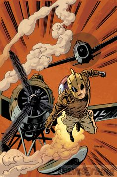 Rocketeer by Chris Samnee ✤ || CHARACTER DESIGN REFERENCES | キャラクターデザイン • Find more at https://www.facebook.com/CharacterDesignReferences if you're looking for: #lineart #art #character #design #illustration #expressions #best #animation #drawing #archive #library #reference #anatomy #traditional #sketch #artist #pose #settei #gestures #how #to #tutorial #comics #conceptart #modelsheet #cartoon #flying #fly #jumping #jump || ✤