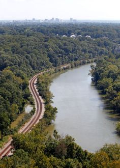 The James River west of Windsor Farms photographed from the air Friday, September 20, 2013. Richmond is in the background.
