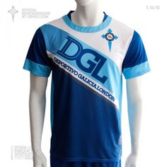 Official t-shirt DEPORTIVO GALICIA LONDON, season 2014 / 15. London, Design, Sporty, London England