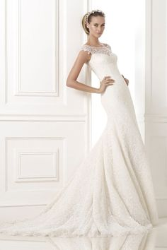 2015 New Arrival Attractive Bateau Mermaid/Trumpet Lace Wedding Dress With Beads Court Train USD 296.99 TDPDE2RDM2 - TrendProm.com