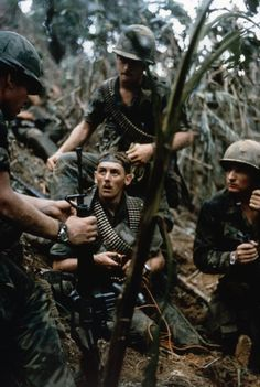Men of the 101st Airborne during a sweep of an area around the Fire Support Base that protected the Montagnard village of Mai Loc, October 1969. ~ Vietnam War