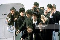 The Beatles arrive at Kennedy Airport for the first time from London... News Photo | Getty Images