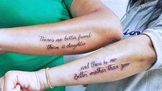 Mother Daughter Tat, Father Daughter Tattoos, Mom Quotes From Daughter, Mother Tattoos, Tattoos For Daughters, Sister Tattoos, Heart Melting Quotes, Tiny Heart Tattoos, Dream Tattoos