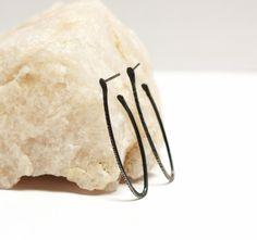 Petite Amphora Post Earrings, oxidized recycled sterling silver by Marja Germans Gard