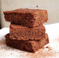 Brownies senza uova, latte e glutine