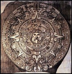 The great Aztec Sun Stone (12 feet in diameter) was unearthed in Mexico in 1790…