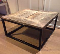 salontafel industrieel sloophout en staal