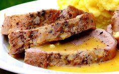 Pork loin with mustard - Lomo de puerco a la mostaza   Recetas Mexicanas