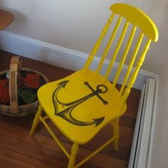 such a cute and simple idea for an old chair.