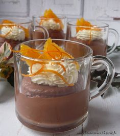 Az áfonya mámora: Narancsos csokoládéhab Pudding, Food And Drink, Baking, Sweet, Yogurt, Bread Making, Candy, Patisserie, Puddings