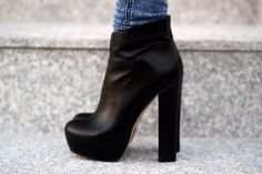 ankle boots with block high heels Ankle Boots, High Heel Boots, Heeled Boots, Bootie Boots, Shoe Boots, Shoes Heels, Bootie Heels, Dream Shoes, Crazy Shoes