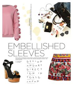 """""""Make a Statement: Embellished Sleeves"""" by samanthasade ❤ liked on Polyvore featuring WithChic, Dolce&Gabbana, Christian Dior, fashionset and embellishedsleeves"""