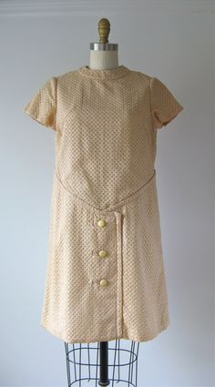 vintage 1960s dress / 60s dress / Bread & Butter by Dronning