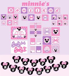 Digital Minnie Mouse Bowtique Party Package  Minnie by PartyPops, $36.00