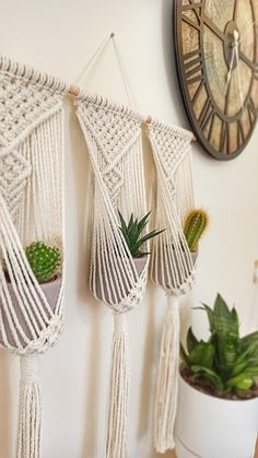 This triple plant hanger brings more green to your life while easily hanging on the wall. It is also a great addition to your comfortable space! Are you looking for a simple solution to highlight your space and add personality to your room without having to renovate furniture? This collection of one of a kind macrame wall hangings can easily add an elegant textured feel to your home. I love the style, but not the colors? I would like to work with you on a special piece! Send me a message and…
