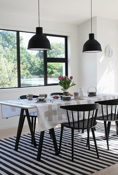 Muuto | Unfold Pendant Light | Marimekko Tableware | HAY J104 Chair