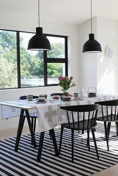 Muuto | Unfold Pendant Light | Marimekko Tableware | HAY J104 Chair
