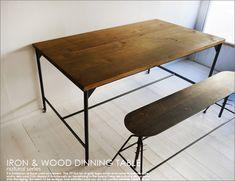 【楽天市場】ダイニングテーブル/シャビーアンティークウッド木製レトロTRUCK FURNITURE好きに!インダストリアル工業系カフェ什器:UNIROYAL