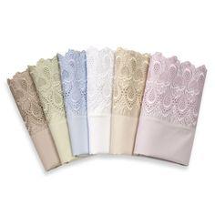 Easy-Care Lace Sheet Set, 600 Thread Count - Bed Bath & Beyond Cal King Bedding, Comforter Sets, Bedding Shop, Linen Bedding, Bed Linens, Master Bedroom Makeover, Linen Spray, Cool Lamps