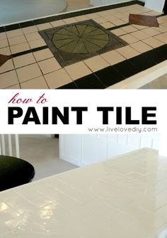 How to paint tile & other amazing ways to update your kitchen using only paint! So many great ideas in this post!