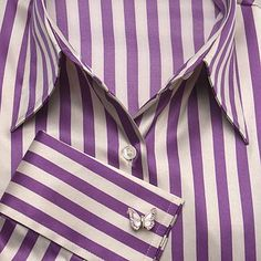 ladies cufflinks...and purple stripes, love it.
