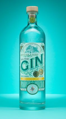 Gracias a Dios Agave Gin Honors Mexico's Vibrant Culture Blog Design Inspiration, Packaging Design Inspiration, O Gin, Gin Bottles, Design Language, Bottle Design, Wine Design, Branding Design, Design Packaging