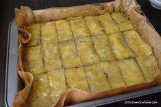 Baclava turceasca reteta cu nuca   Savori Urbane Food Cakes, Spanakopita, Cake Recipes, Deserts, Ethnic Recipes, Sweet, Party, Cakes, Candy