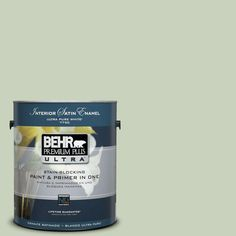 BEHR Premium Plus Ultra 1-Gal. #PPU10-9 Chinese Jade Satin Enamel Interior Paint