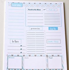 25 Printables to Organize Your Life in 2014 | Henry Happened