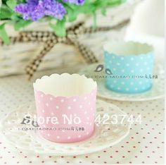 blue&pink white pots  bands bulk 100pcs/lot High temperature baking greaseproof paper muffin cupcake liners/wrappers
