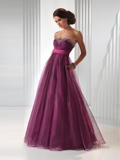 Empire Sweetheart Tulle Prom Dress with Beading