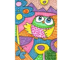 Whimsical Art, Owl Art, Childrens Room Decor, Owl Wall Art, Owl Art Print 8 x 10 by Paula DiLeo