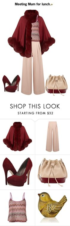 """""""Lunch with Mum."""" by cardigurl ❤ liked on Polyvore featuring Harrods, Antipodium, Michael Antonio, SUSU, Lipsy and Judith Leiber"""