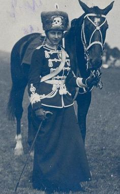 Her Highness Princess Victoria Louise of Prussia. Prussian hussar uniform .