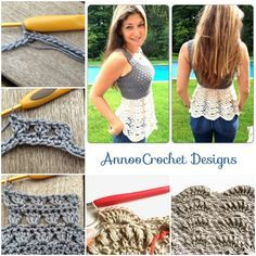 """<input class=""""jpibfi"""" type=""""hidden"""" >This crochet ballerina top is so glamorous, sexy ! What girl doesn't want to have one ? Great the pattern is FREE that shared by Annoo. What you will Need: Crochet hook : 3.25mm Tapestry Needle Cascade yarn in Grey and Cream or any Dk, Light 8ply yarn Crochet ballerina top FREE pattern via Bloglovin…"""