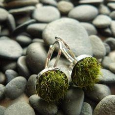 Moss Earrings - Aretes con musgo