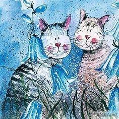 Cats in Bluebells ~ Alex Clark