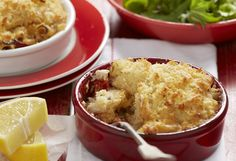 The perfect emergency dinner straight from the pantry. These tuna bakes have an added crunch for an extra-special, extra-simple meal that will get tongues wagging – but no one needs to know your secret! Tuna Bake, Dried Tomatoes, Fish And Seafood, Cornbread, Mashed Potatoes, Macaroni And Cheese, Easy Meals, Tasty, Stuffed Peppers