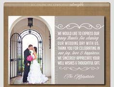 Postcard Thank You Cards Wedding