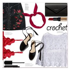 """""""Crochet"""" by mycherryblossom ❤ liked on Polyvore featuring yunotme, Bobbi Brown Cosmetics, Balenciaga and Marc Jacobs"""