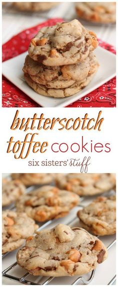 Butterscotch Toffee Cookie recipe from @sixsistersstuff