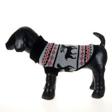 Small Pet Dogs Cat Winter Warm Sweater Christmas Elk Knit Coats Outwear Cachorro Mascotas Apparel()