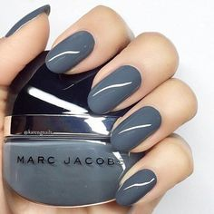 In search for some nail designs and ideas for your nails? Here's our list of 37 must-try coffin acrylic nails for fashionable women. Cute Nails, Pretty Nails, Gray Nails, Blue Nail, Round Nails, Manicure Y Pedicure, Nagel Gel, Nail Polish Colors, Polish Nails